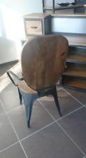 Vintage metal and wood industrial chair