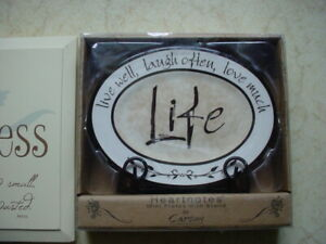 Live Well, Laugh Often, Love Much Wall/Desk Plaque NIB plus a Kindness Plaque