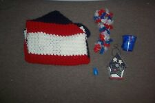 Patriotic home Lot Birdhouse and blanket and more