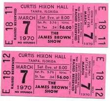 James Brown Concert Ticket Set of 2 1970 Tampa Pink
