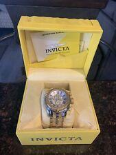 New Mens Invicta 17436 Bolt 53mm Swiss Quartz Gold Steel SS Watch Retail $300