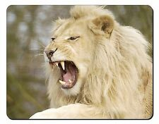 Roaring White Lion Computer Mouse Mat Christmas Gift Idea, AT-43M