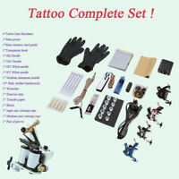Beginner Tattoo Kit 4 Tattoo Gun Machines and Tatto Accessories Complete Set  Z