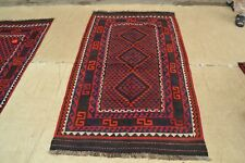6'11 x 3'9 Small Handwoven Afghan Tribal Kilim Wool Carpet Kelim Area Rug #4960