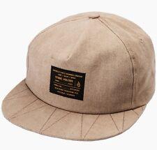 Nuevo ~ Para Hombre Volcom Zag los clásicos Snapback Hat Gorra Sombrero  Drill En Kaki Ajustable c682ec277c6