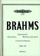 Brahms 3 Intermezzi Rhapsody Op 119 Piano Solos Sheet Music Book B78