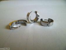 Snap Closure Stainless Steel Unbranded Hoop Costume Earrings