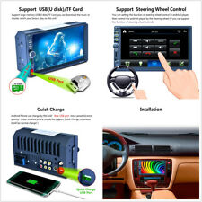 """New listing Car 7"""" 2-Din Hd Aux Bluetooth Stereo Mp5 Player Gps Rds Mirror Link For Android"""