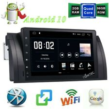 9''Car Stereo GPS Sat Nav Android 10.0 MAP RDS MAP BT WIFI For BMW E39 X5 E53 M5