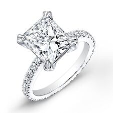 1.90 Ct Radiant Cut Diamond Solitaire Eternity Engagement Ring G,VS1 EGL 14K WG