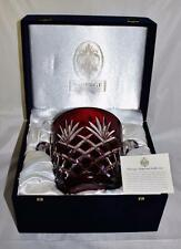 Faberge Crystal Ruby Red Odessa Ice Bucket in Original Presentation Box with Coa