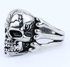 Skull Head Gothic Biker Terminator stainless steel men or women's ring size 12