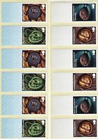 BLANK POST & HIBERNATING ANIMALS 2 x STRIPS OF 6 STRIP UNDATED MNH