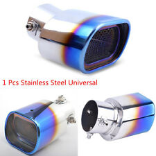 Car Modification Stainless Steel Grilled Bluing Square Muffler Exhaust Tip Pipe