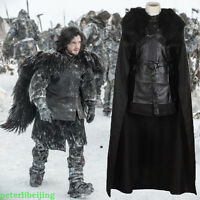 Game of Thrones Jon Snow Cosplay Halloween Fancy Party Men's Costume Outfit New