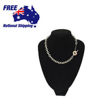 Fashion Sterling Silver Toggle Link Chain Double Bracelet Choke Necklace