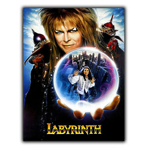 Labyrinth (1986) David Bowie METAL SIGN WALL PLAQUE Film Movie Poster Print
