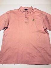 Bobby Jones Master Pink Polo Mens L