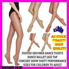 FOOTED SHIMMER TIGHT TIGHTS DANCE STOCKING STOCKINGS BALLET JAZZ TAP CHILD ADULT