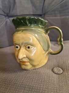 Kingston Pottery Large Queen Victoria Toby Jug (17cm x 13cm)