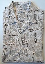 NEW Men's CANYON RIVER BLUES Short Sleeve Button Up Shirt, S, Japanese Pattern
