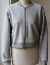 ACNE BIDDY HEAVY F1 CONTRAST COLOUR TRIM TWO-WAY ZIP BOMBER JACKET SMALL