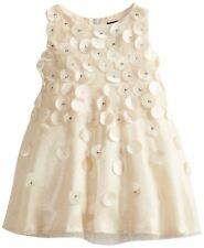 BISCOTTI Baby Girls Holiday Dress Gold Tulle Size 9M