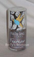 Nails Inc. Feathers EDINBURGH blue & orange *SEALED* .33oz FULL SIZE nail polish