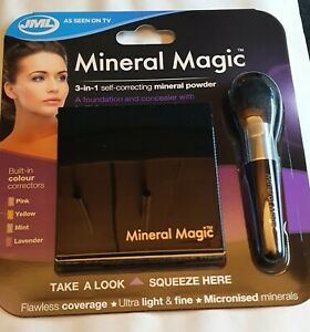 JML Mineral Magic 3-in-1 Make-up Self correcting Mineral Powder. Brand New