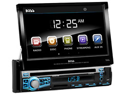 "BOSS Audio Car Stereo Single Din 7"" LCD Touchscreen Bluetooth DVD MP3 USB Remote"