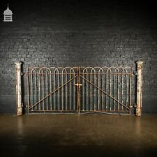 More details for 19th c hoop top driveway gates with a pair of octagonal cast iron columns