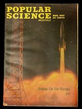 """ORIGINAL MARCH 1947 POPULAR SCIENCE MAGAZINE """"GOING UP FOR KEEPS"""""""