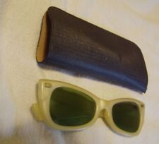 Vintage Cool Ray Polaroid 115 Opaque Opal Oval Sunglasses Frames