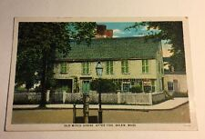 Post Card Old Witch House After 1780 Salem Massachusetts Unsent