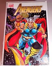 BLANK VARIANT SKETCH COVER Arvell Jones AVENGERS ORIGINAL COMIC ART not CGC NM