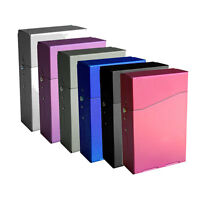Gift Magnetic Aluminum Pocket Cigarette Cigar Tobacco  Box Case -Multicolor