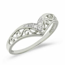 10k White Gold Diamond Ring Size 6.5