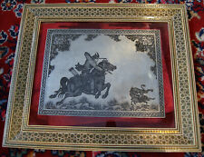 Khatam Frame Ghalamzani Copper Islamic Art Handmade Marquetry Inlaid