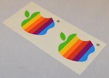 *Rare* Apple Rainbow Logo Stickers, 2 Stickers on Sheet *New*