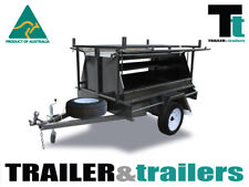 6x4 TRADESMAN'S TRAILER SINGLE AXLE - NEW WHEELS – 600mm TOOLBOX TOP