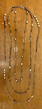 Silpada N2097 Hematite Sterling Silvr Multi-Strand Dewdrops Necklace Was $99