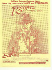 RAIDERS OF THE LOST ARK(1981)HARRISON FORD LOT OF 8 ORIGINAL HERALDS