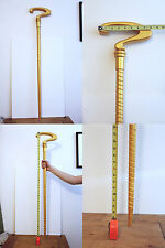 """42"""" RIDDLER Spiral CANE Question Mark Gold color Costume Prop Cosplay Comic Con"""