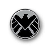 """SHIELD / 1"""" / 25mm pin button / badge / Marvel / Thor / Iron Man / The Avengers"""
