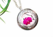 BLUMEN BLÜTEN Medaillon Halskette ++ AUSWAHL ++ Flower Foto Anhänger zum Öffnen