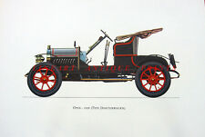 OPEL 4/8 PS DOKTORWAGEN DOCTOR'S Classic Motor Car Cabriolet ~ Old Art Print