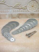 18 Tlg. 16mm - 50mm Schmuck Diamant Glas Trennscheibe Schleifscheibe für Dremel