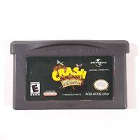 Crash Bandicoot: The Huge Adventure for Nintendo Game Boy Gameboy Advance GBA