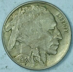 1918-S 5C Buffalo Head Nickel About Uncirculated Details AU