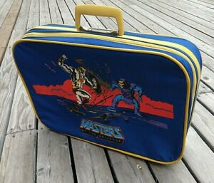 Vintage 1983 He-Man Masters Of The Universe Kids Suit Case Travel Bag Luggage